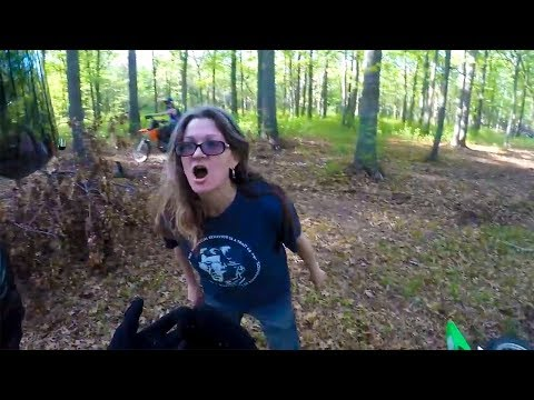 Biker Rides on Lady's Property... Then This Happens