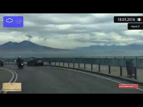 Driving through Napoli (Italy) from Posillipo to Chiaia 18.03.2016 Timelapse x4