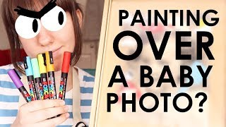 Download Painting on a Thrifted Baby Photo - 12 Monthly Doodles Mp3 and Videos