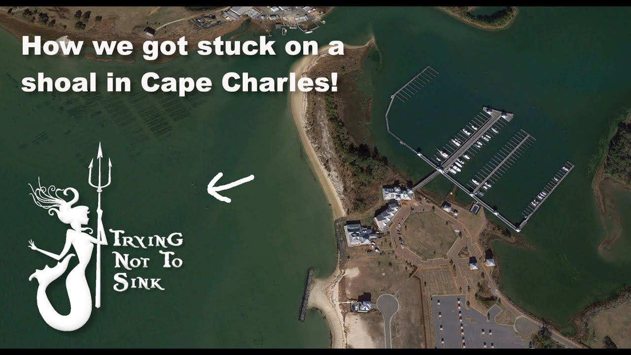 Stuck on a shoal in Cape Charles