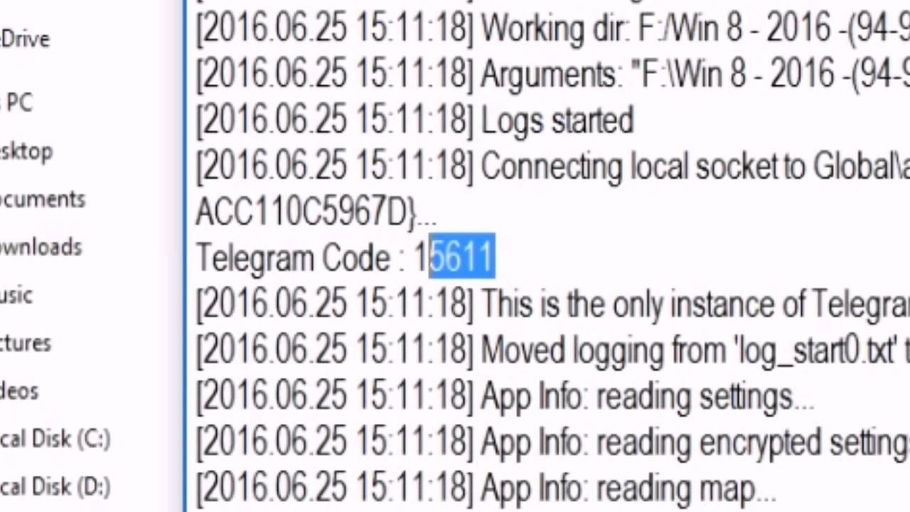 Telegram hack