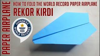 Dünyanın En Hızlı ve En Uzun Uçan Kağıt Uçağı-Word Record-Bölüm 187