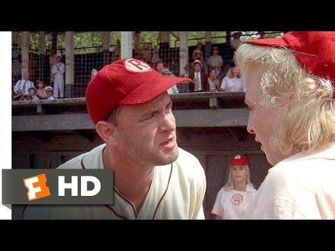 There's No Crying in Baseball  A League of Their Own 58 Movie  1992 HD