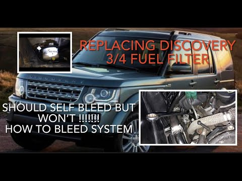 How to replace fuel filter Land Rover Discovery 3, 4 & Range Rover Sport. How to bleed fuel system.