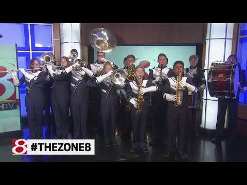 Perry Meridian High School band performs on Daybreak