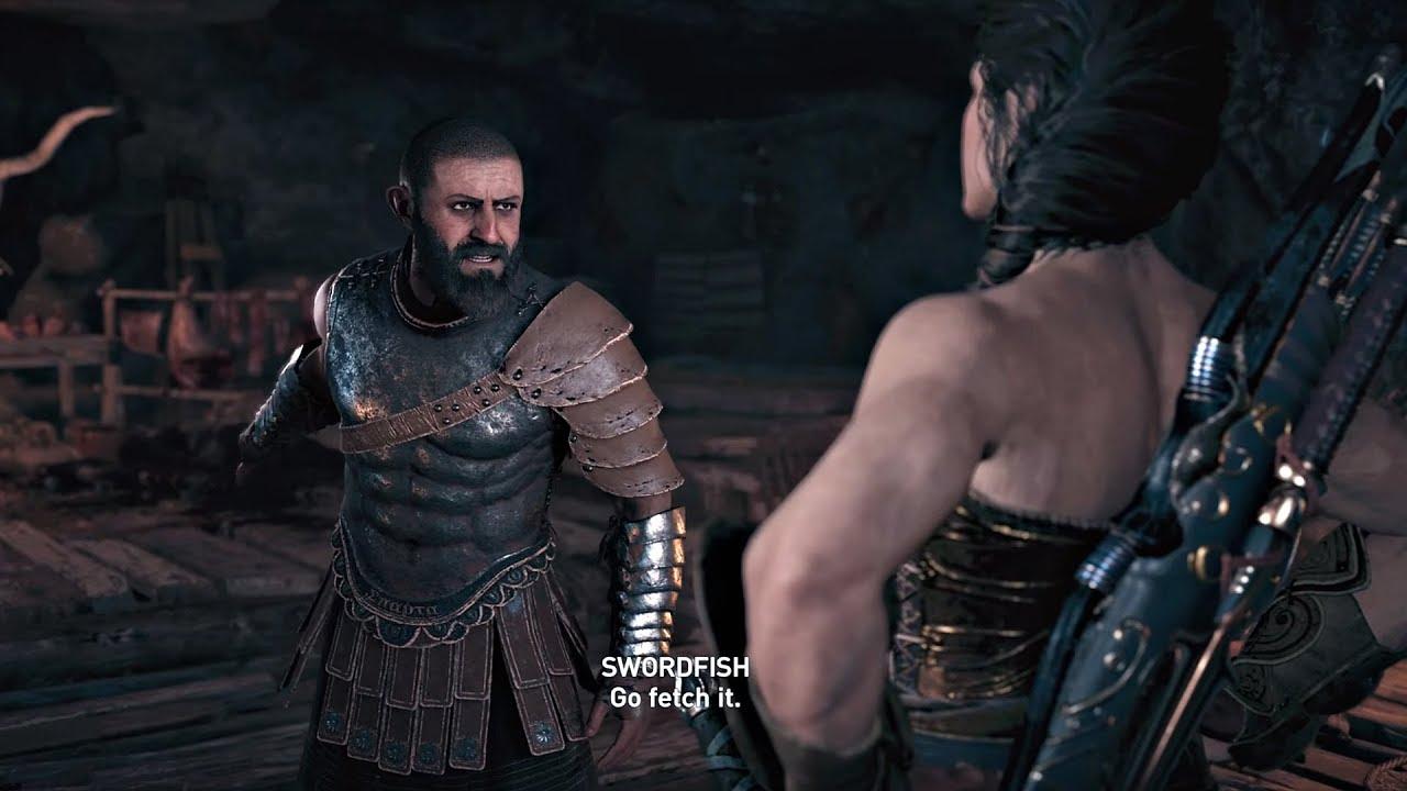 Assassin S Creed Odyssey Swordfish Boss Legendary Wonder Woman Amazon Bracers Reward Youtube