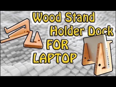 How to make a Wooden vertical laptop stand Holder Dock FOR LAPTOP DIY