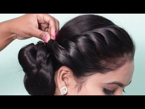How to do Side braid hairstyle 2019 for ladies | New hairstyles for wedding party | hairstyle girl thumbnail