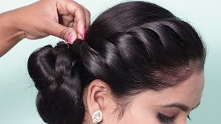 How to do Side braid hairstyle 2019 for ladies   New hairstyles for wedding party   hairstyle girl