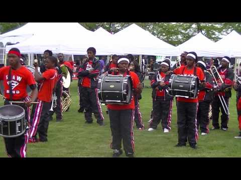 Shaw High School Marching Band drummers