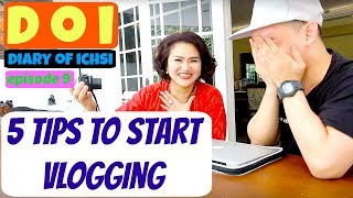 #IchsanAkbarVlog 08 - 5 TIPS TO START VLOGGING FOR BEGINNERS FROM BEGINNERS (with MOZA PRAMITA)