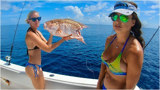 Girls birthday SNAPPER Fishing turns into SHARK fishing!!