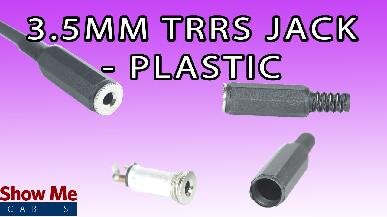 35mm plastic trrs jack diy project to repair your audio cable