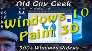 Windows 10 - Paint 3D is on it