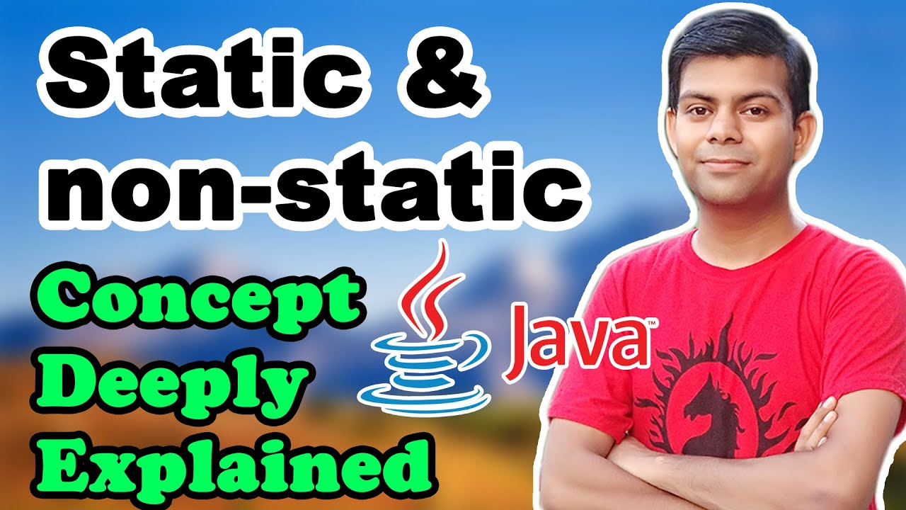 Static and non-static concept in Java 📗 | Static Keyword | ICSE Computer Class 9 & 10