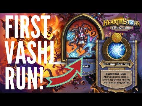 FIRST VASHJ BATTLEGROUNDS RUN!   Hearthstone Battlegrounds