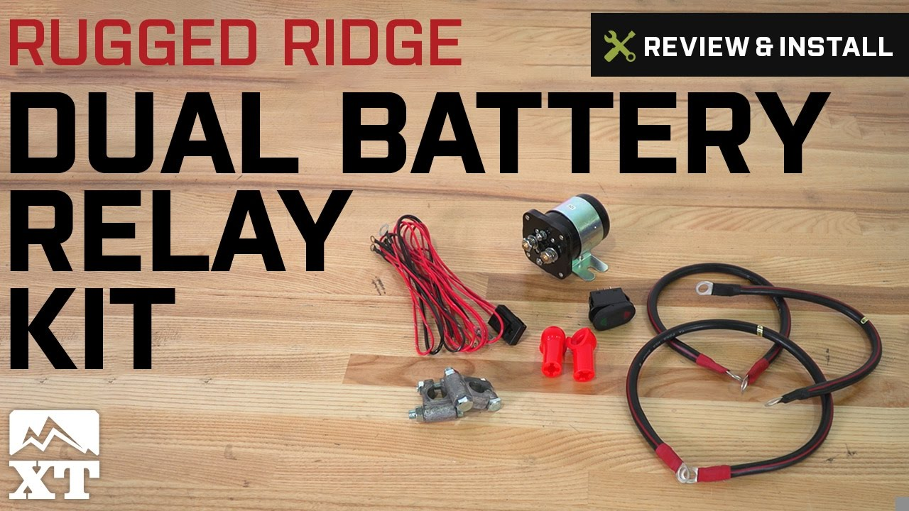 Jeep Wrangler Rugged Ridge Dual Battery Relay Kit (1987-2017 ... on marine battery wiring harness diagram, boat switch diagram, perko marine battery switch wiring diagram, 24v marine battery connection diagram, marine 3 battery wiring diagram, marine waste system installation diagram, 2 battery kill switch diagram, twin outboard battery diagram, marine battery selector switch wiring diagram,