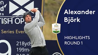 Alexander Björk hits 17/18 greens for opening 63 | Round 1 Highlights | 2020 ASI Scottish Open
