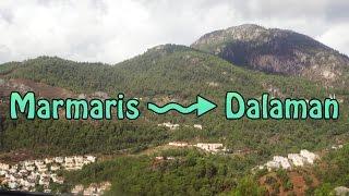 Из Мармариса в ДАЛАМАН самостоятельно! Amazing scenic road Marmaris - Dalaman Turkey * Турция 2015(Едем в аэропорт Даламан, чтобы вылететь оттуда в Стамбул! Автовокзал Мармариса, рейсовый автобус. Как добра..., 2015-10-26T17:29:14.000Z)