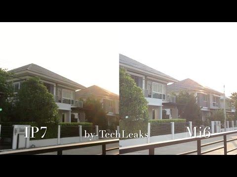 XIAOMI MI6 vs IPHONE 7 SELFIE CAM FRONT CAM VIDEO REVIEW