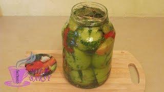 Маринованные помидоры с пикантной начинкой | Домашний рецепт | Marinated green tomatoes