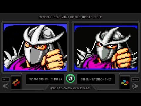 Teenage Mutant Ninja Turtles: Turtles in Time (Arcade vs Snes) Side by Side Comparison