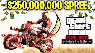 GTA Online ARENA WARS DLC - $250,000,000 Spending Spree! Buying & Testing Everything New!