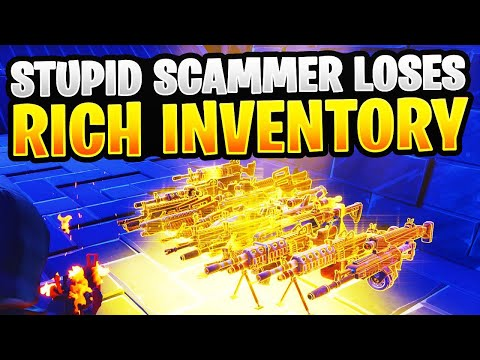 Stupid Scammer Gets Scammed For RICHEST Inventory In Fortnite Save The World