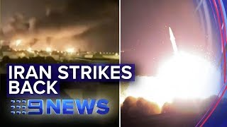 Iran launches missiles on two US military bases in Iraq | Nine News Australia