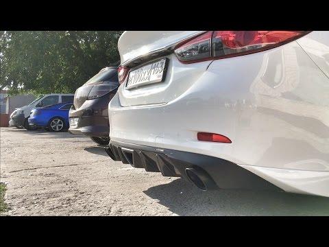 Mazda 6 custom exhaust AutoExe & Panamera pipe muffler tip  - YouTube