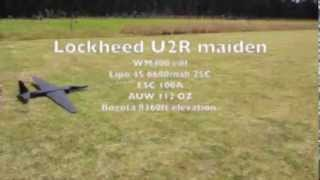 RC Lockheed U2 edf