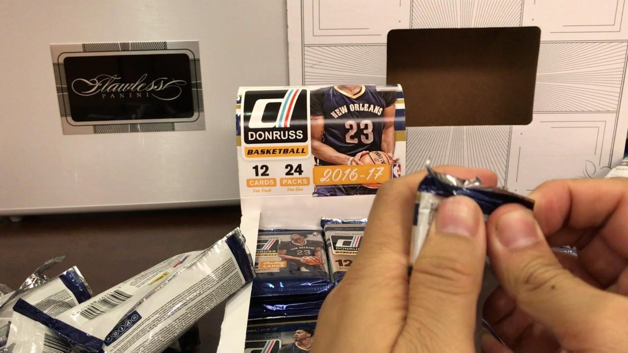 2016-2017 1617 NBA Panini Donruss 籃球卡球員卡拆包球員卡拆包拆盒 NBA basketball cards - YouTube