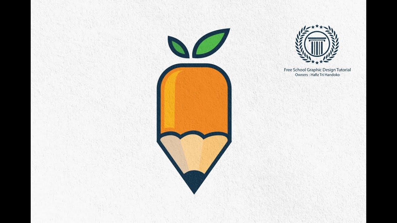 Adobe illustrator logo design tutorial  How to design a Simple Logo  Leaf Pencil Logo  YouTube