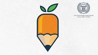 Adobe illustrator logo design tutorial - How to design a Simple Logo - Leaf Pencil Logo