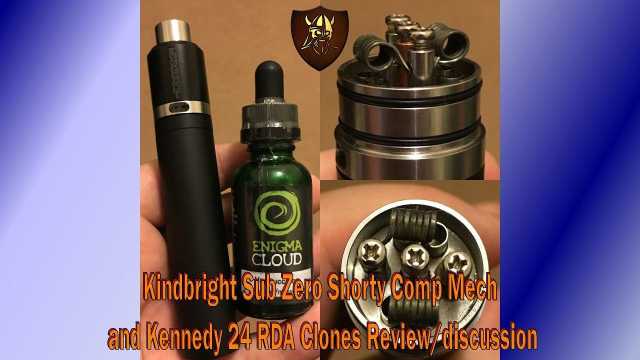 kindbright sub zero shorty comp mech mod kennedy 24 rda clone