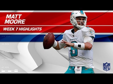 Matt Moore Puts Together Amazing Comeback in 4th Quarter! | Jets vs. Dolphins | Wk 7 Player HLs