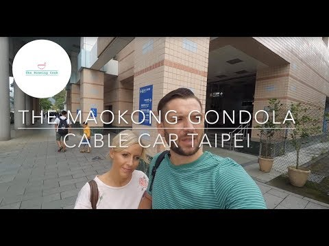 Riding The Maokong Gondola Cable Car in Taipei