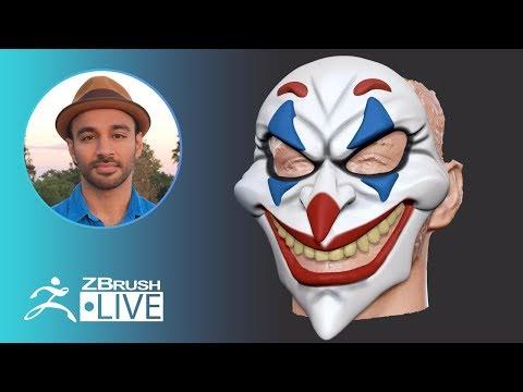 3D Printing in ZBrush: Joker Mask - Aiman Akhtar - Episode 49