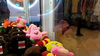 Larva and pink piggy - Claw machine prizes won.