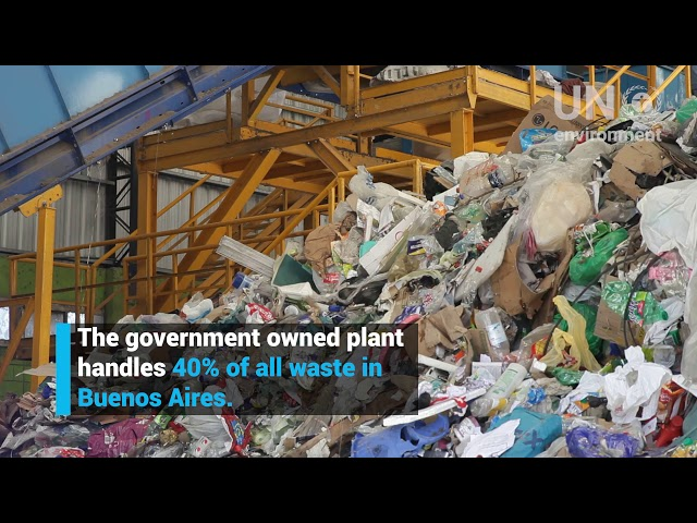 Siim Kiisler visiting waste plant in Buenos Aires