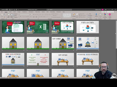 Inserting a PowerPoint presentation within a presentation