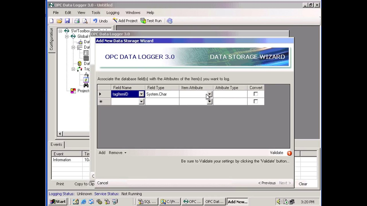 How to Log to SQL Server with the OPC Data Logger