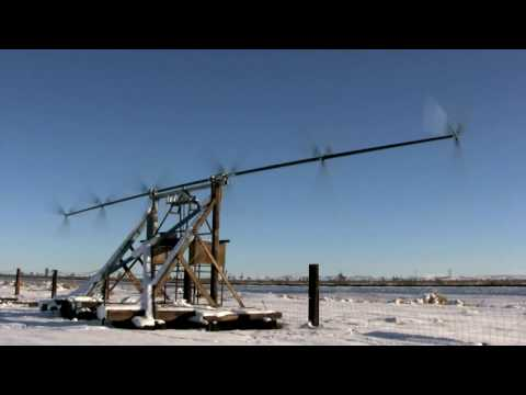 Selsam Superturbine in Boron, CA in Snow, sponsored by  California Energy Commission