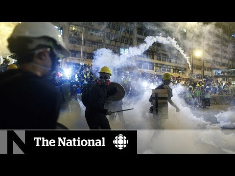 Hong Kong police unleash tear gas on protesters