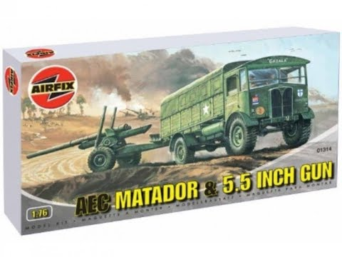 Airfix AEC Matador and 5 5 Inch Gun Review