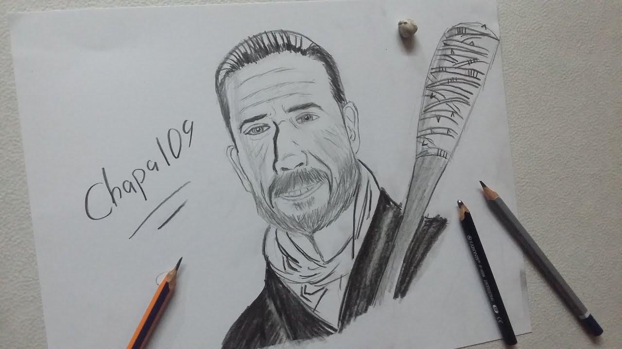 Dibujo De Negan: The Walking Dead/ Drawing Negan: The