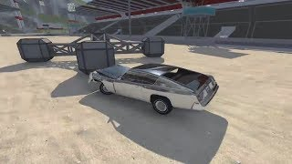 beamNG.Drive Большая подборка аварий #2. Разбиваем машинки на карте Car Jump Arena