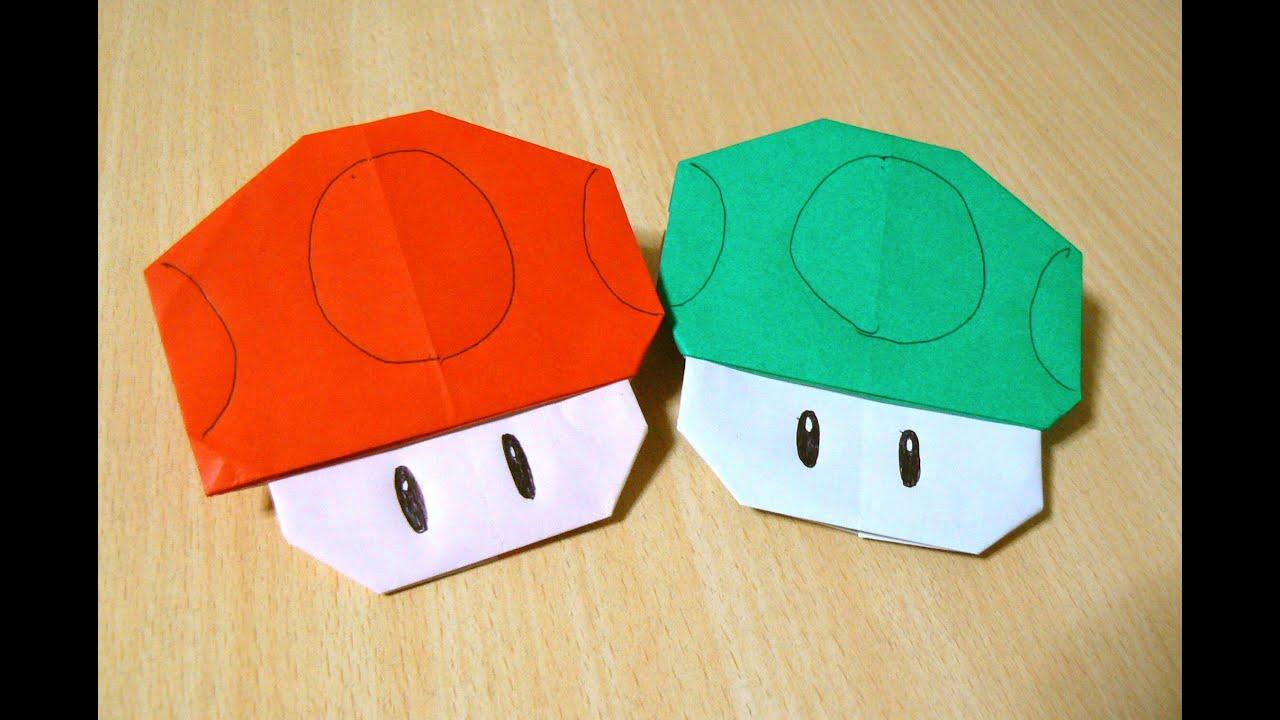 origami facile mario