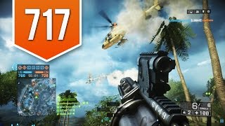 battlefield 4 ps4 road to max rank live multiplayer gameplay 717 suppressor is bad luck