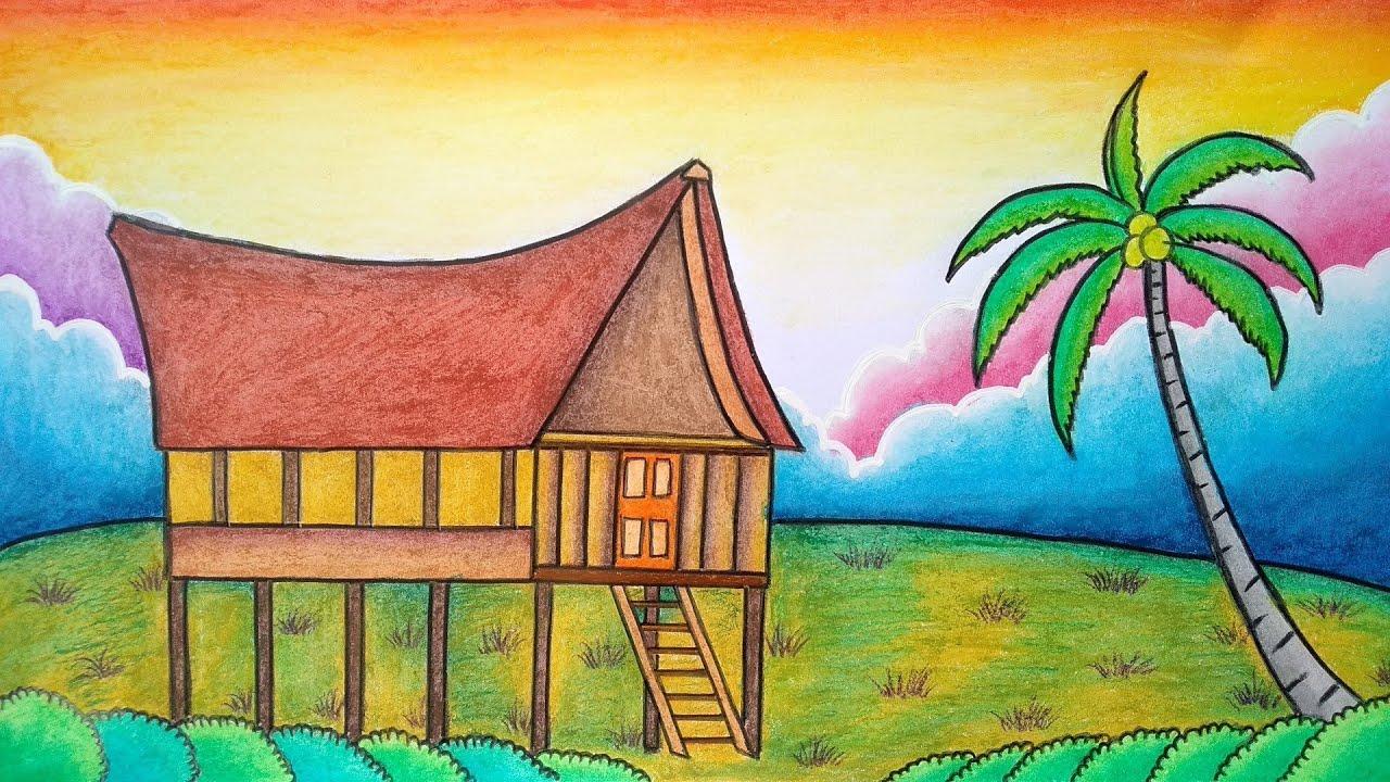 Menggambar Adat Cara Menggambar Adat Toraja Belajar Menggambar Adat